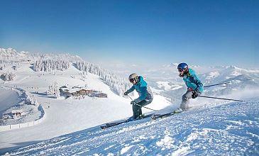Skifreuden in den Kitzbüheler Alpen